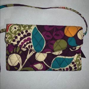 Vera Bradley convertible wallet w/ removable strap